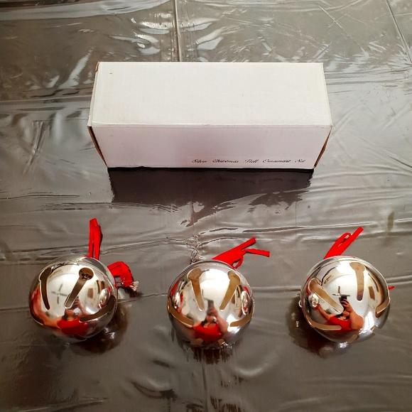 Vintage Silver Bell Ornament Set